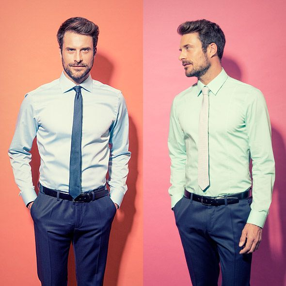 Diese Hemden schreien geradezu nach Frühling! #venti #hemden #krawatte #businesslook