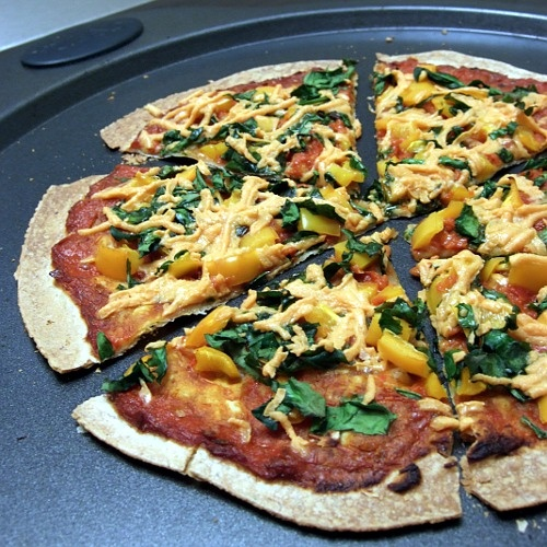 Tortilla Pizza | Food [Daniel's Fast] | Pinterest