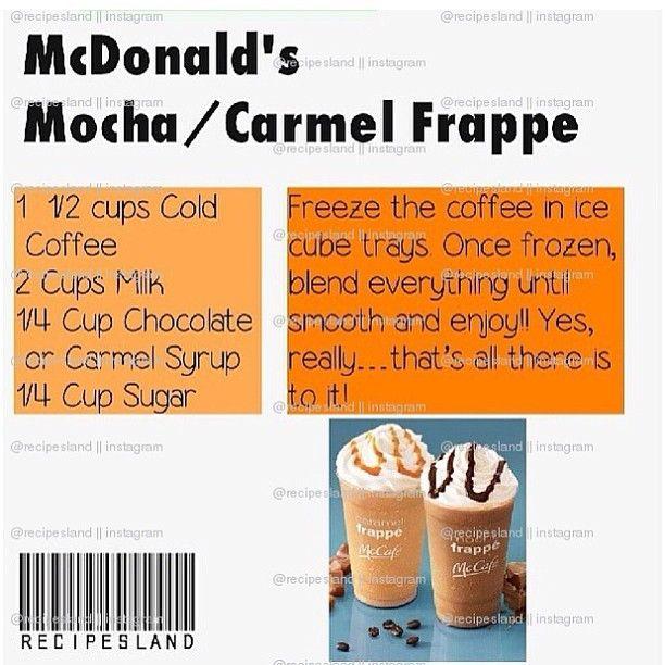 McDonald's mocha/carmel frappe