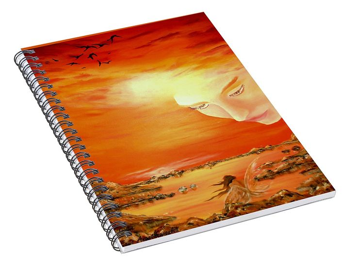 Spiral Notebook,  stationery,school,supplies,cool,unique,fancy,trendy,awesome,beautiful,design,unusual,modern,artistic,for,sale,items,products,office,organisation,fantasy,sky,fairy,orange