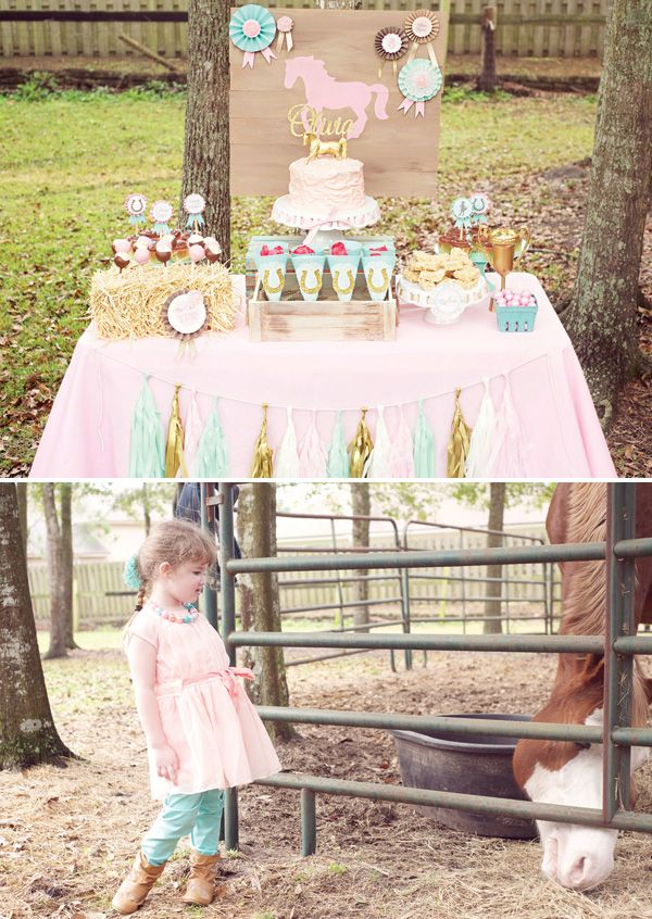 bella birthday party Fancy Farmgirl Birthday Party {Pink & Ponies!}