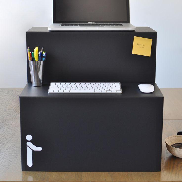 best 25 stand up desk ideas on pinterest diy standing desk standing desks and sit stand desk. Black Bedroom Furniture Sets. Home Design Ideas