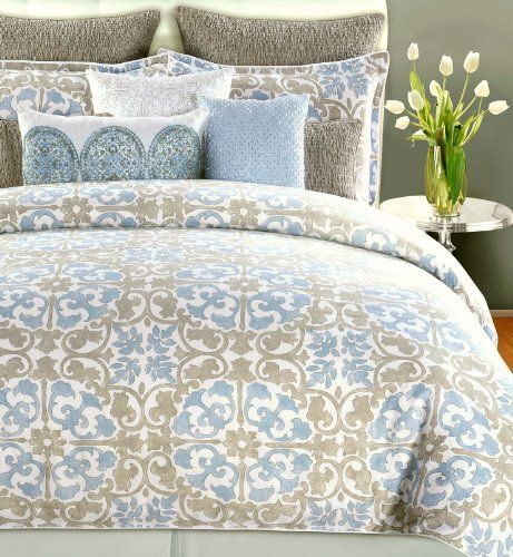 Tahari Home 3pc Cotton Duvet Cover Set Marble Arch