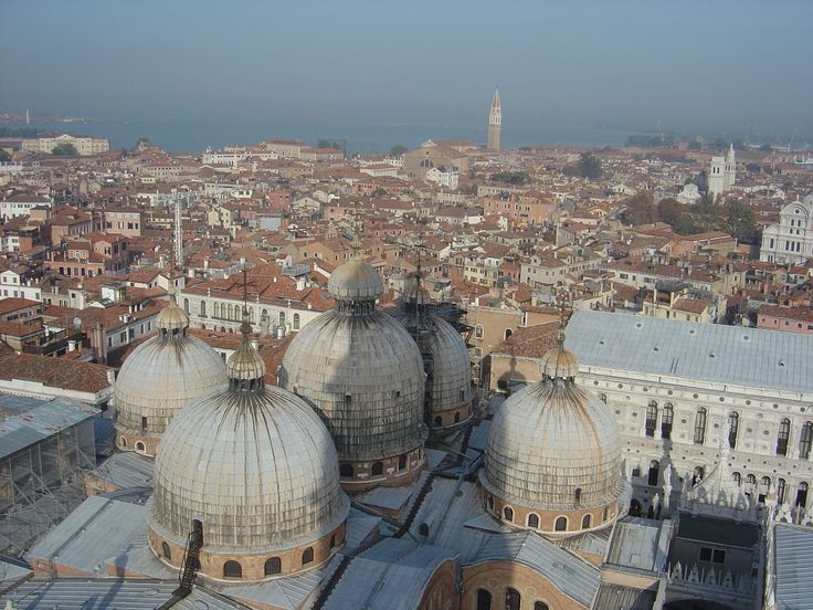 View from St Marks Bell Tower, Venice, Italy
