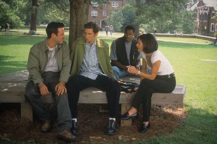 David Arquette, Courteney Cox, Jamie Kennedy and Duane Martin, Scream 2, 1997