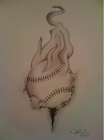 Softball drawing