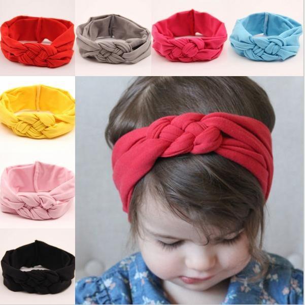 Nuevas últimas tendencias con mejor nudo turbante diadema lindo niños headwrap para las niñas accesorios del pelo envío gratis