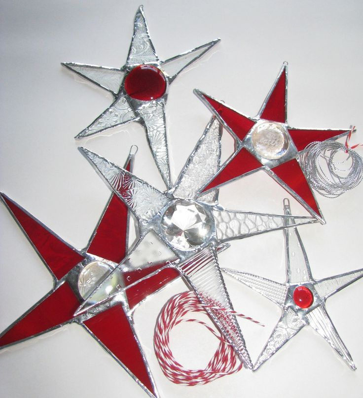 Christmas  Window Decor in a Box- Stars Galore (5 Stars). $75.00, via Etsy.