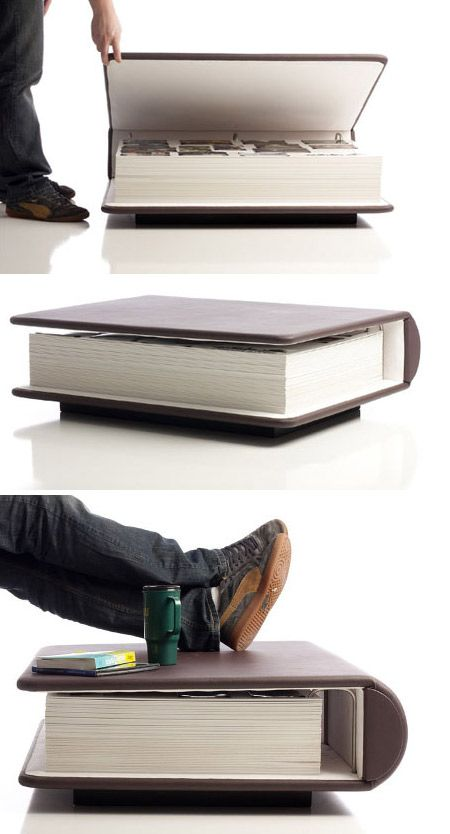 Huge photo album as a coffee table-wild!