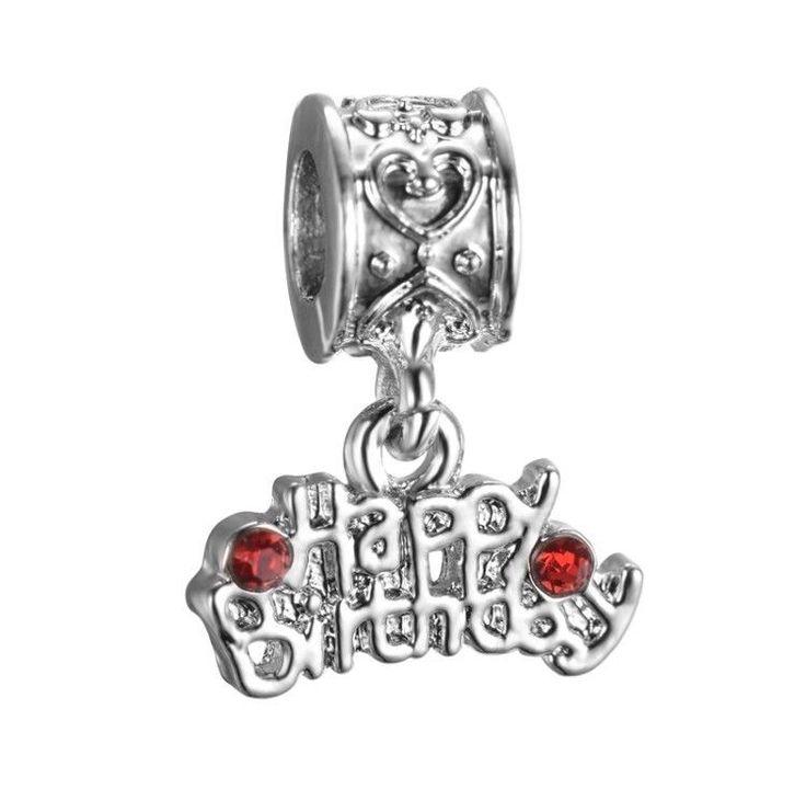 Pandora Charm Happy Birthday Dangle 925 Sterling Silver Charm