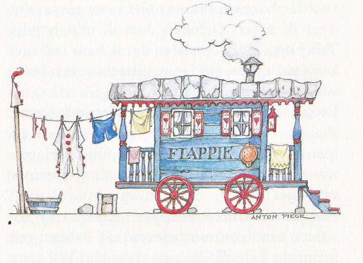 Anton Pieck uit: Flappie en zijn hondje Dinky