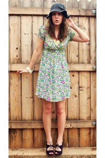 1990s style outfit. I hated those floral dresses!