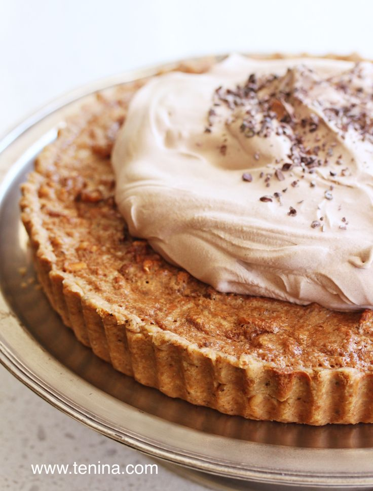 Chocolate Walnut Pie - Cooking with Tenina