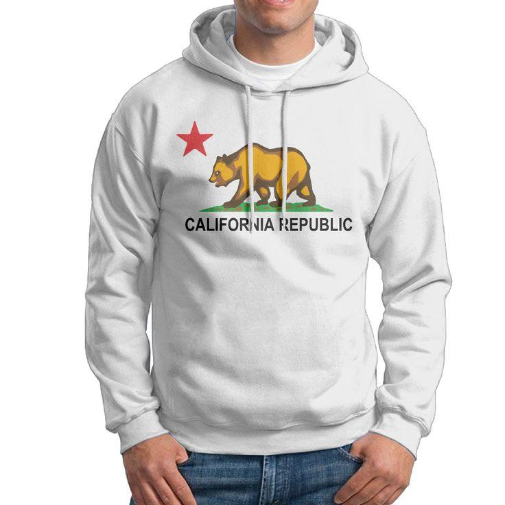 >> Click to Buy << California Republic Flag Men Hoodies,2017 New Fashion mens hoodies sweatshirts hip hop hooded for man #Affiliate