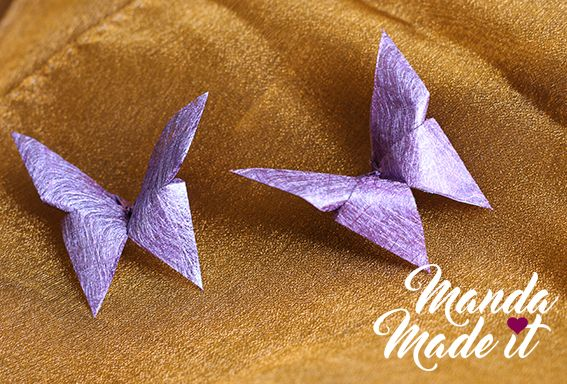 DIY origami butterflies for wedding table