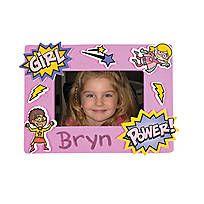 Superhero Girl Magnetic Picture Frame Craft Kit - 13674829