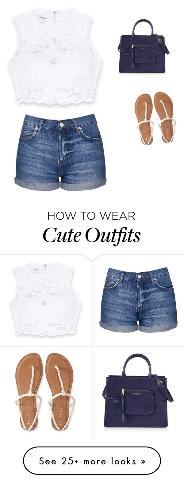 """""""Cute Summer Outfit"""" by lsantana13 on Polyvore featuring Bebe, Topshop, Marc Jacobs and Aéropostale"""