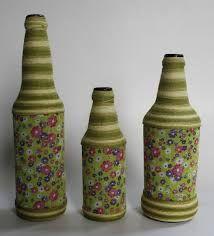 Resultado de imagen para garrafa decorada com barbante