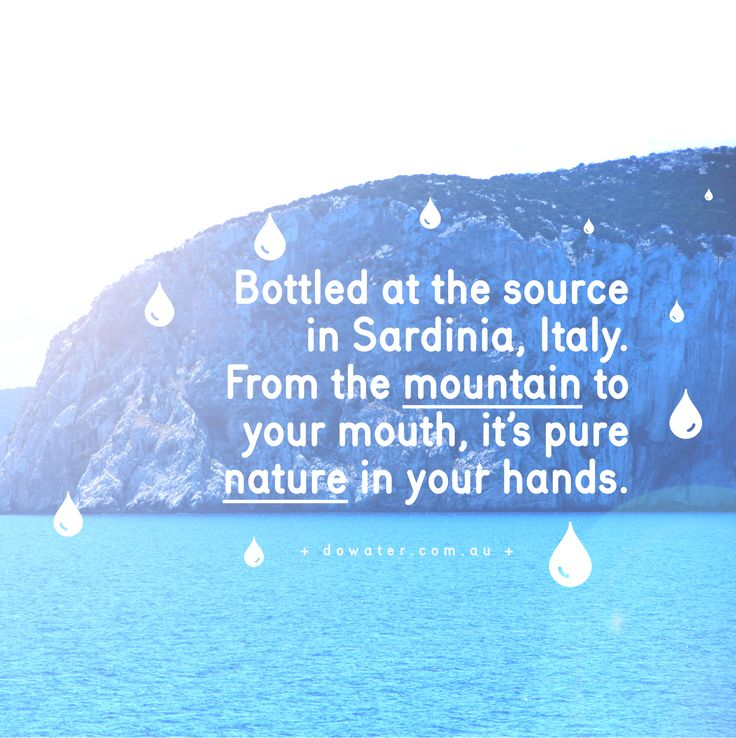 Do Water. Bottled at the source, from the mountain to your mouth it's pure nature in your hands. #positiveandpure #dowater www.dowater.com.au