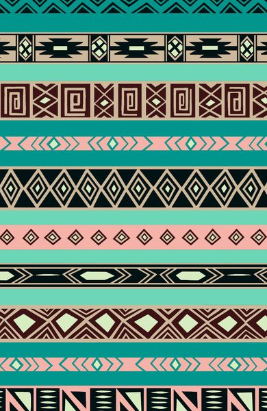 Aztec Tribal Pattern Art Print