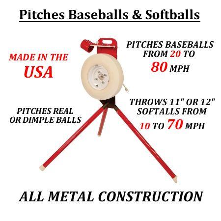 Pitching Machine Stop - First Pitch Original Combo Baseball/Softball Pitching Machine, $825.00 (http://www.pitchingmachinestop.com/first-pitch-original-combo-baseball-softball-pitching-machine/)