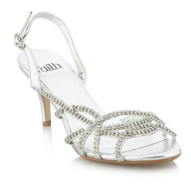 Silver diamant strap sandals - Debenhams
