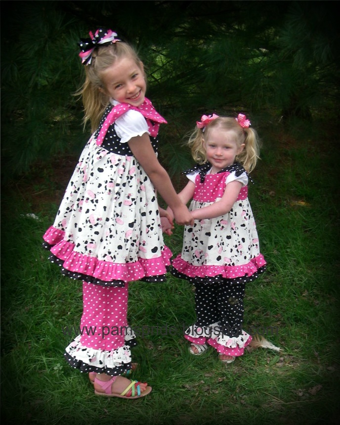 """Pam's Pride: Pink and Black Polka Dot """"Cow"""" Outfits!"""