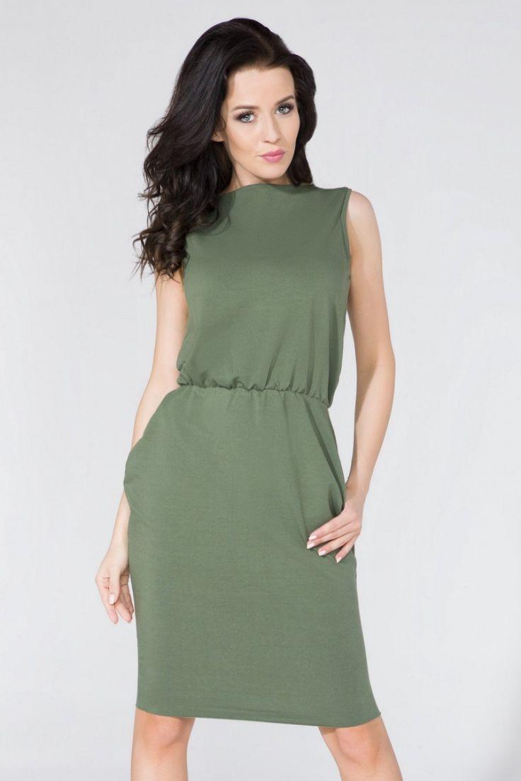 Sukienka Model T132 Green #modadamska #sukienkiletnie #sukienka  #allettante.pl
