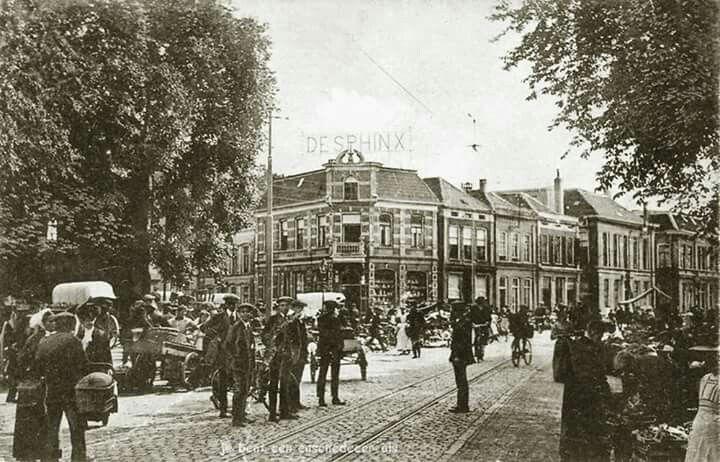 Nederland, Enschede, ca. 1900 Oude Markt, dinsdsgmarkt.