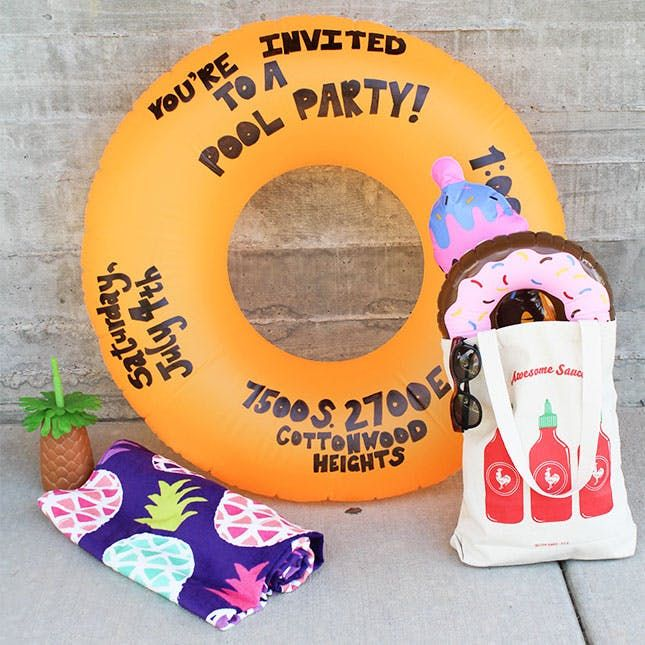 Throwing a pool party this summer? Here are DIY ideas that'll make your kiddo's party the best on the block.