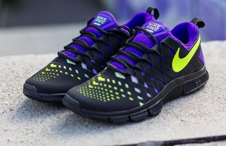 Nike Free Trainer 5.0 NRG   Black, Volt & Electro Purple