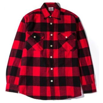 Anti Social Plaid Button Down Shirt (Red) #antisocialclub #streetwear #streetfashion #fashion #urbanwear #longsleeves #buttonupshirt