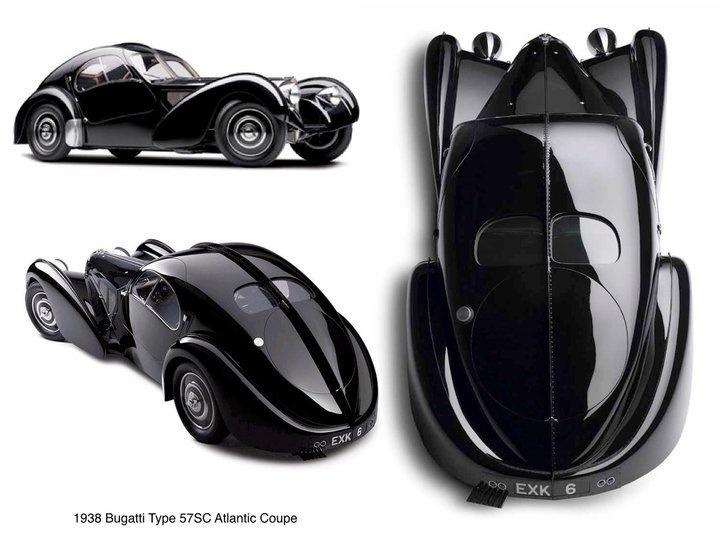 Speed   Style   Sculpture. 1938 Bugatti 57 SC Atlantic Coupé. Ralph Lauren's car collection.