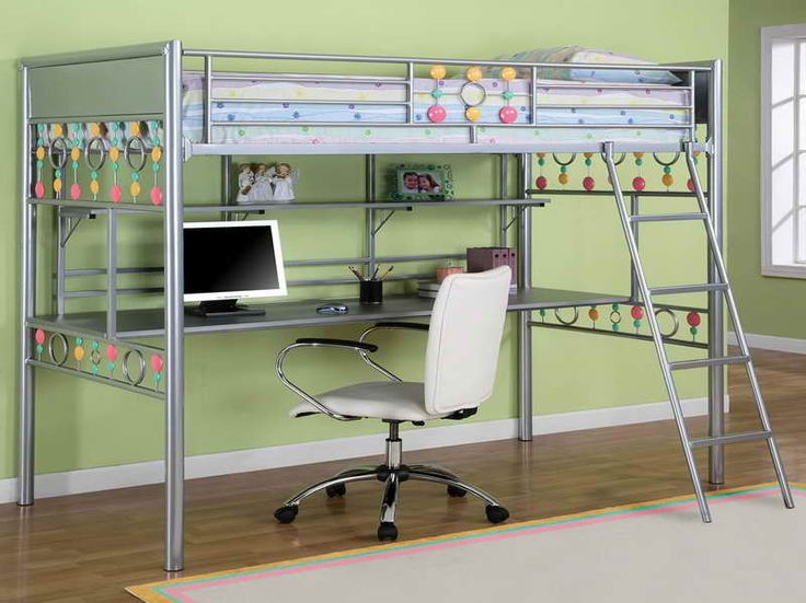 Bedroom:How To Build A Loft Bed With Desk Underneath How To Build A Loft Bed With Desk Underneath With Green Wall