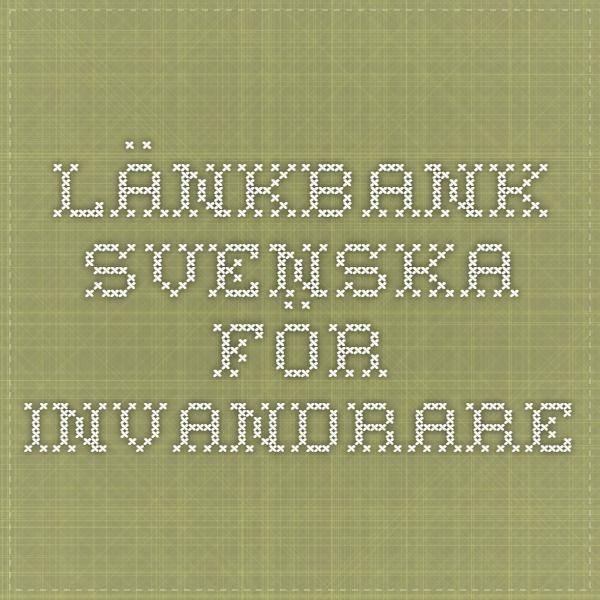 länkbank svenska för invandrare