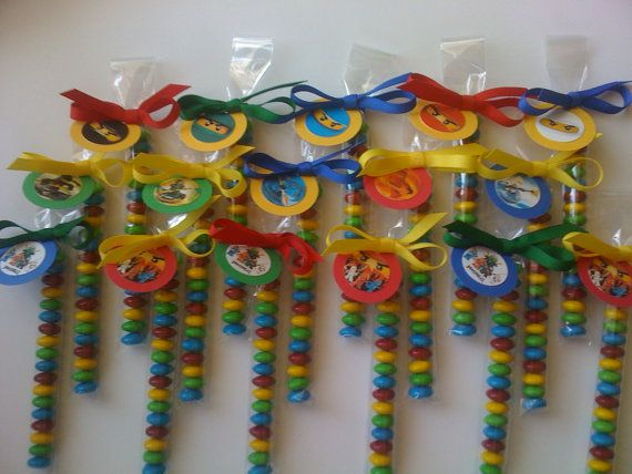 Lego Ninjago M & M Party Favors Set of 8 by EnchantedKidsParties, $9.00
