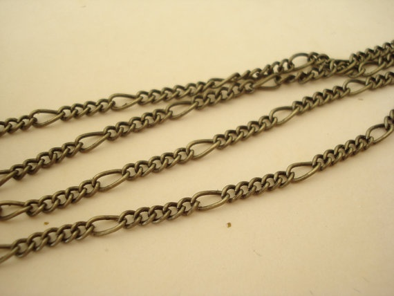6 Feet Antiqued Bronze Metal Chain 2 size C26 by yooounique