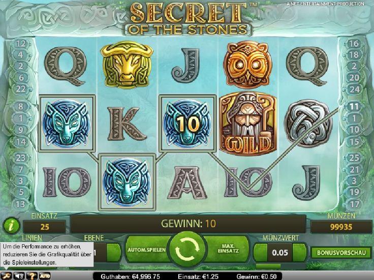 Secret of the Stones ist ein interaktives Spiel mit Freispielmöglichkeiten, bei dem Sie verschiedene Arten von Bonus Funktionen sammeln können. http://www.spielautomaten-kostenlos.com/spiele/spielautomat-secret-of-the-stones-online #secretofthestones #onlinespielautomaten #kasinospiele