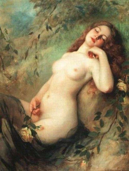 Victor K. Schtember, A sitting nude (1900)