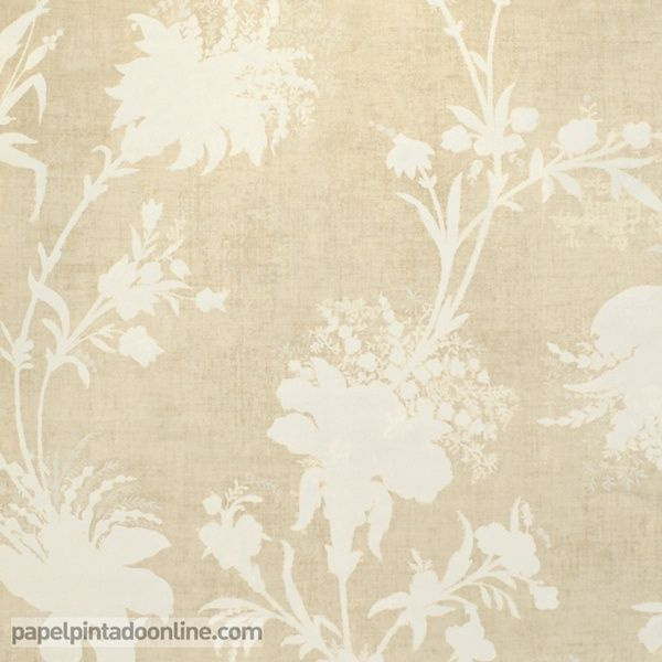 Papel pintado paris rs72409 con fondo beige y estampado for Papel pintado tonos beige