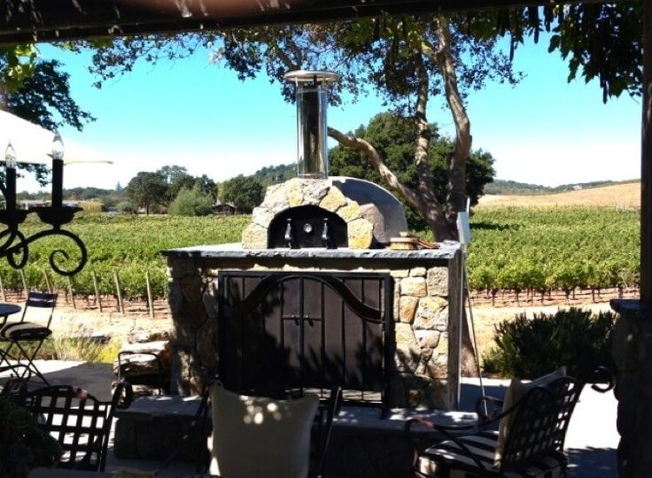 Outdoor pizza ovens with stucco finish - Forno Bravo. Authentic Wood Fired Ovens
