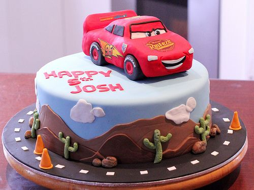 Lightening Mcqueen Cake Disney Cars (by Say it with Cake)