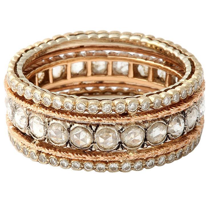 BUCCELLATI Diamond Band -- Rose gold, rose diamonds... it's a rose!