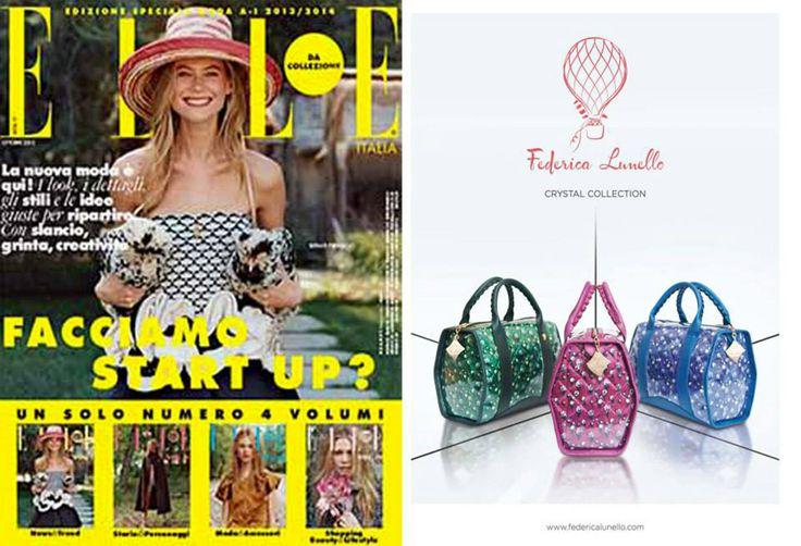 Elle October 2013 - ADV in Elle. www.federicalunello.com #federicalunello #bags #accessories #madeinitaly #handmade