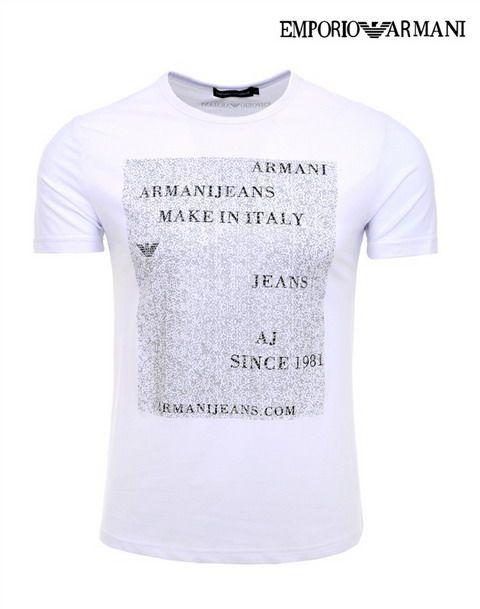 cheap polo ralph lauren Emporio Armani AJ Since 1981 Short Sleeve Men\u0027s T-Shirt  White