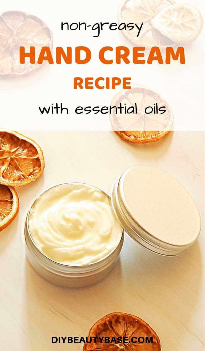 Non Greasy Diy Hand Cream That Your Hands Will Love Recipe