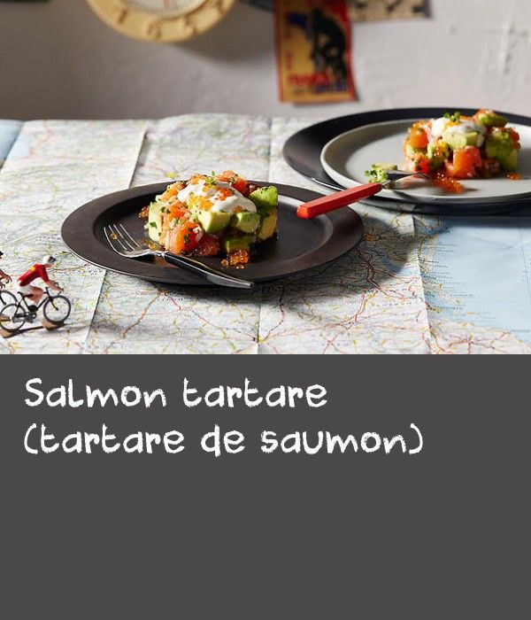 Salmon tartare (tartare de saumon) | Stage 10 – Tarbes/La Pierre-Saint-Martin: This lovely dinner party entrée is delicious and so easy to prepare. I use two 10 cm PVC rings to mould the tartare, but you could use stainless steel cutters or rings if you have them. Alternatively, go free-style! It will still be delicious. The Tabasco sauce and lemon zest will lightly 'cook' the salmon if left too long, so while you can do all the prep beforehand, this dish is best combined just before…
