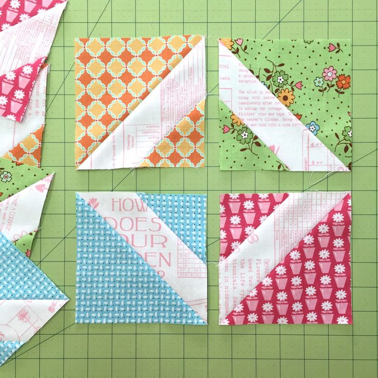 """Bee In My Bonnet: my tutorials--From EACH of 4 different prints; Cut 1- 6 1/2""""square and  Cut 2 - 3""""squares;  see other pics in tutorial"""