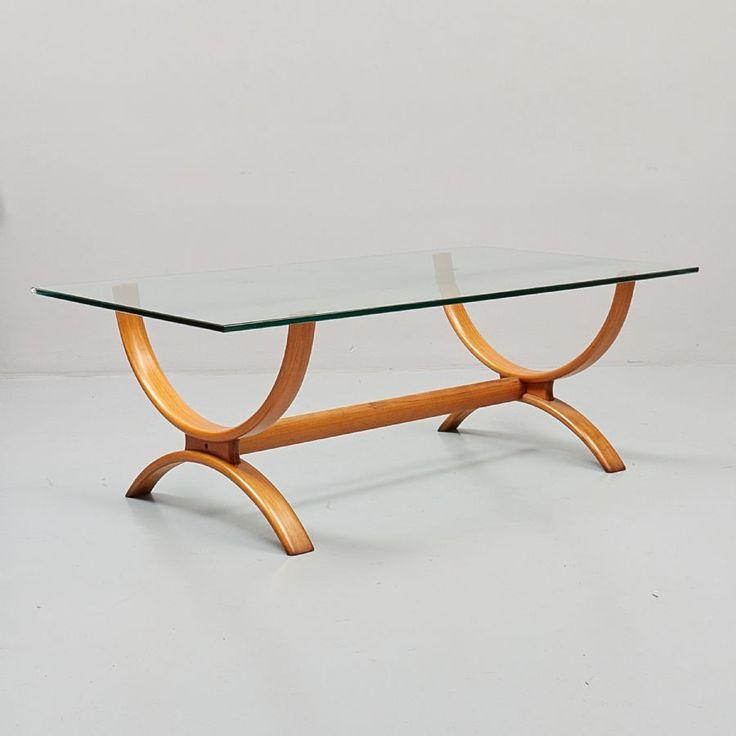 Soffbord, glasskiva, längd: 140 cm, djup: 80 cm, höjd: 50 cm