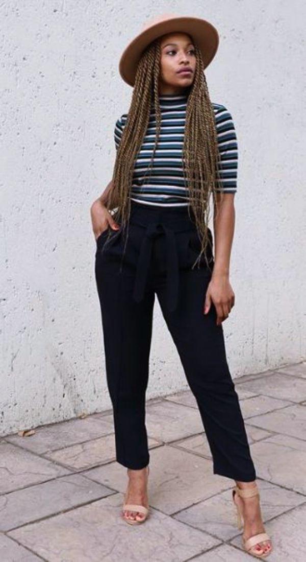 70 Casual Work Outfits für schwarze Frauen